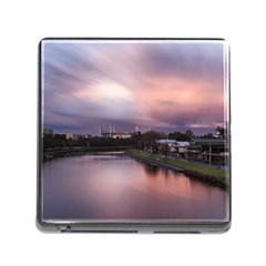 Sunset Melbourne Yarra River Memory Card Reader (square) by Simbadda