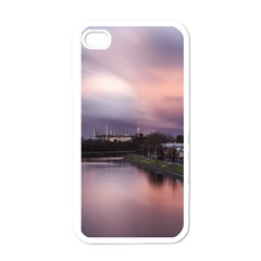 Sunset Melbourne Yarra River Apple Iphone 4 Case (white) by Simbadda