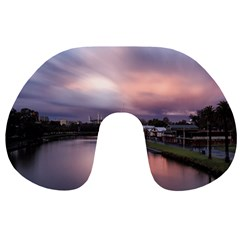 Sunset Melbourne Yarra River Travel Neck Pillows by Simbadda
