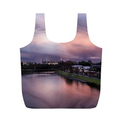 Sunset Melbourne Yarra River Full Print Recycle Bags (m)  by Simbadda