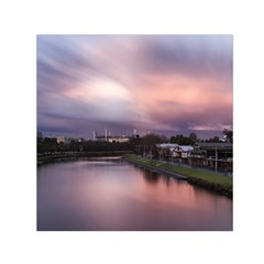 Sunset Melbourne Yarra River Small Satin Scarf (square)