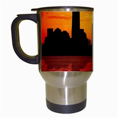 Skyline New York City Sunset Dusk Travel Mugs (white) by Simbadda