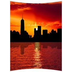 Skyline New York City Sunset Dusk Back Support Cushion