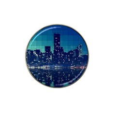 Skyscrapers City Skyscraper Zirkel Hat Clip Ball Marker (4 Pack) by Simbadda