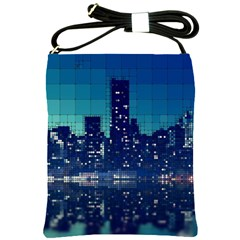 Skyscrapers City Skyscraper Zirkel Shoulder Sling Bags by Simbadda