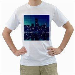 Skyscrapers City Skyscraper Zirkel Men s T Shirt (white)  by Simbadda