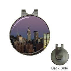 Skyline City Manhattan New York Hat Clips With Golf Markers by Simbadda