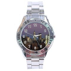 Skyline City Manhattan New York Stainless Steel Analogue Watch by Simbadda