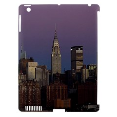 Skyline City Manhattan New York Apple Ipad 3/4 Hardshell Case (compatible With Smart Cover) by Simbadda