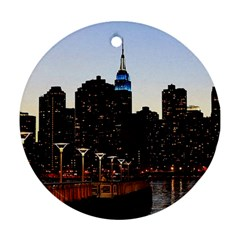 New York City Skyline Building Ornament (round)
