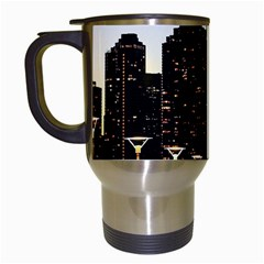 New York City Skyline Building Travel Mugs (white) by Simbadda