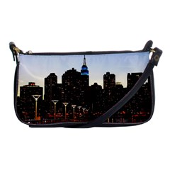 New York City Skyline Building Shoulder Clutch Bags