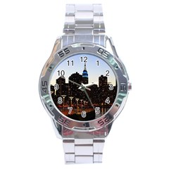 New York City Skyline Building Stainless Steel Analogue Watch by Simbadda