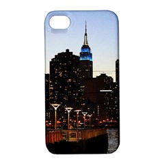 New York City Skyline Building Apple Iphone 4/4s Hardshell Case With Stand