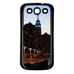 New York City Skyline Building Samsung Galaxy S3 Back Case (black) by Simbadda