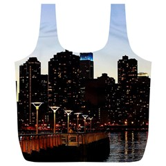 New York City Skyline Building Full Print Recycle Bags (l)  by Simbadda