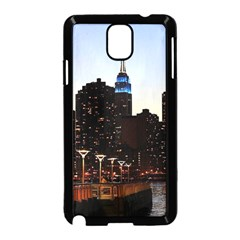 New York City Skyline Building Samsung Galaxy Note 3 Neo Hardshell Case (black) by Simbadda