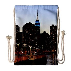 New York City Skyline Building Drawstring Bag (large)