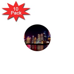 Building Skyline City Cityscape 1  Mini Buttons (10 Pack)
