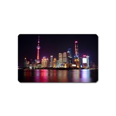 Building Skyline City Cityscape Magnet (name Card) by Simbadda