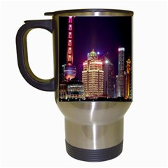 Building Skyline City Cityscape Travel Mugs (white) by Simbadda
