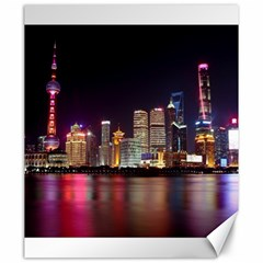 Building Skyline City Cityscape Canvas 20  X 24   by Simbadda