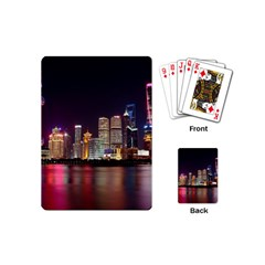 Building Skyline City Cityscape Playing Cards (mini)  by Simbadda
