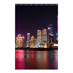 Building Skyline City Cityscape Shower Curtain 48  X 72  (small)  by Simbadda