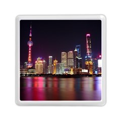 Building Skyline City Cityscape Memory Card Reader (square)