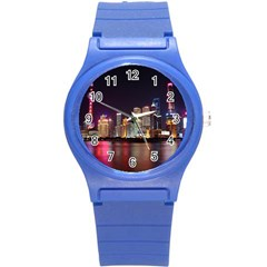 Building Skyline City Cityscape Round Plastic Sport Watch (s)