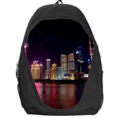 Building Skyline City Cityscape Backpack Bag