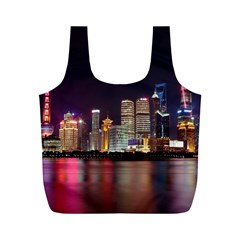 Building Skyline City Cityscape Full Print Recycle Bags (m)  by Simbadda