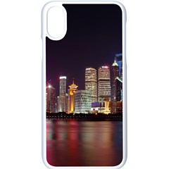 Building Skyline City Cityscape Apple Iphone X Seamless Case (white) by Simbadda