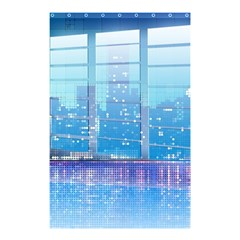 Skyscrapers City Skyscraper Zirkel Shower Curtain 48  X 72  (small)  by Simbadda