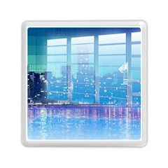 Skyscrapers City Skyscraper Zirkel Memory Card Reader (square)  by Simbadda