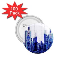 Skyscrapers City Skyscraper Zirkel 1 75  Buttons (100 Pack)