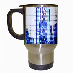 Skyscrapers City Skyscraper Zirkel Travel Mugs (white) by Simbadda