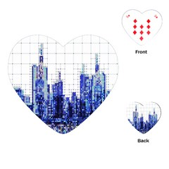Skyscrapers City Skyscraper Zirkel Playing Cards (heart)  by Simbadda