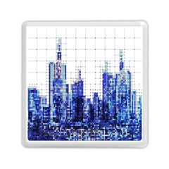 Skyscrapers City Skyscraper Zirkel Memory Card Reader (square)