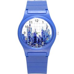 Skyscrapers City Skyscraper Zirkel Round Plastic Sport Watch (s) by Simbadda