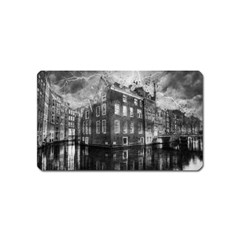 Reflection Canal Water Street Magnet (name Card)