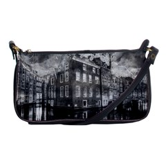 Reflection Canal Water Street Shoulder Clutch Bags by Simbadda
