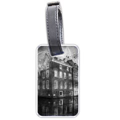 Reflection Canal Water Street Luggage Tags (one Side)  by Simbadda