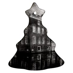 Reflection Canal Water Street Christmas Tree Ornament (two Sides) by Simbadda