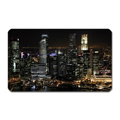 City At Night Lights Skyline Magnet (rectangular) by Simbadda