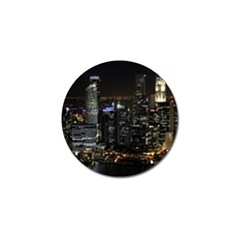City At Night Lights Skyline Golf Ball Marker (10 Pack)