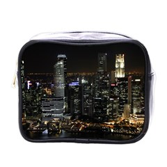 City At Night Lights Skyline Mini Toiletries Bags