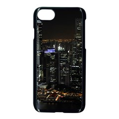 City At Night Lights Skyline Apple Iphone 7 Seamless Case (black)