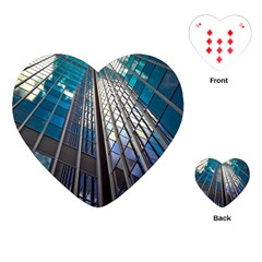 Architecture Skyscraper Playing Cards (heart)  by Simbadda