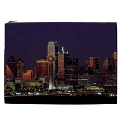 Dallas Texas Skyline Dusk Usa Cosmetic Bag (xxl)